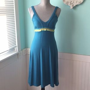 Free People turquoise teal blue sun dress stretchy